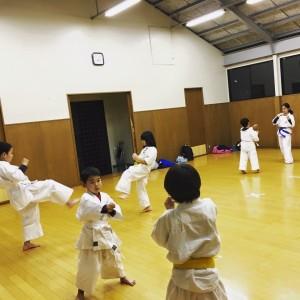 京都 伏見 優水会空手道 桃山支 二人一組で練習